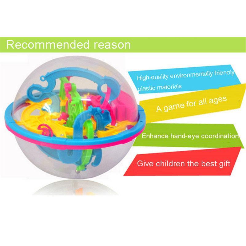 3D الكرة المتاهة لغز المتاهة السحرية الفكر متاهة الكرة Perplexus الكرة الاستخبارات ألعاب تعليمية للأطفال 100 الحواجز