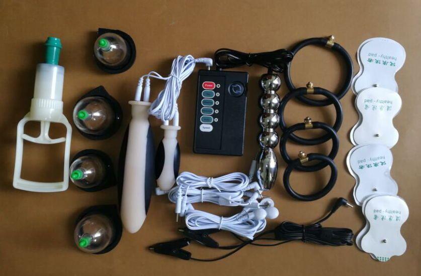 Electro Sex Kit Silikon Stromschlag Penisring Behandlung Penisring Sexspielzeug Medizinisches Spielzeug