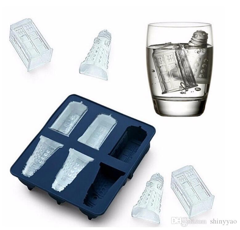 Kitchen Gadgets New Doctor Who Cocktails Silicone Ice Cube Tray Candy Chocolate Baking Molds