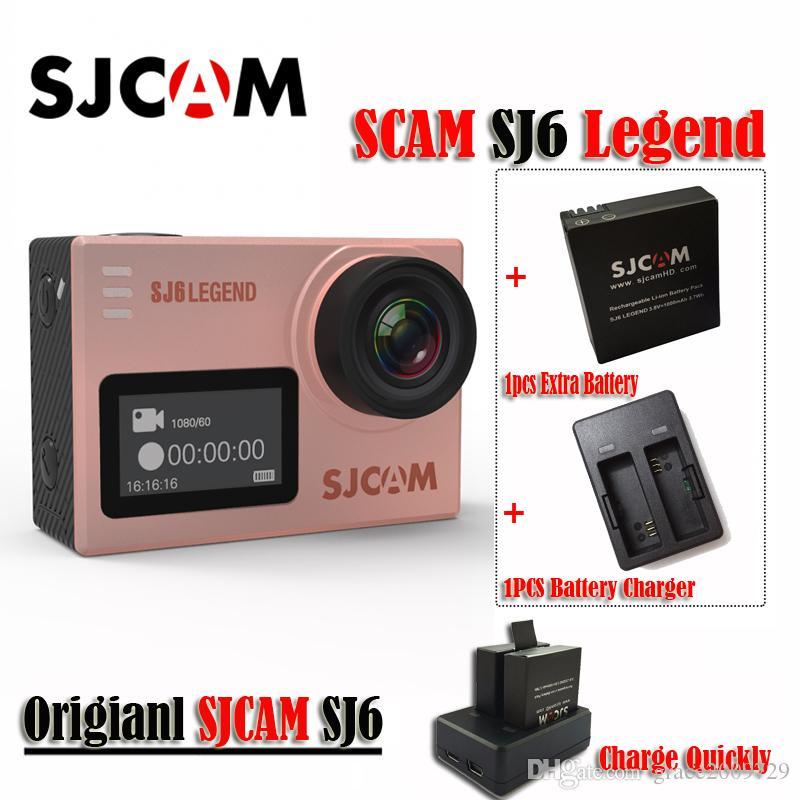 """Originale SJCAM SJ6 LEGEND 4K 24fps Ultra HD Notavek 96660 Videocamera per sport acquatici impermeabile 2.0 """"Touch Screen Mini Sports DV (oro rosa)"""