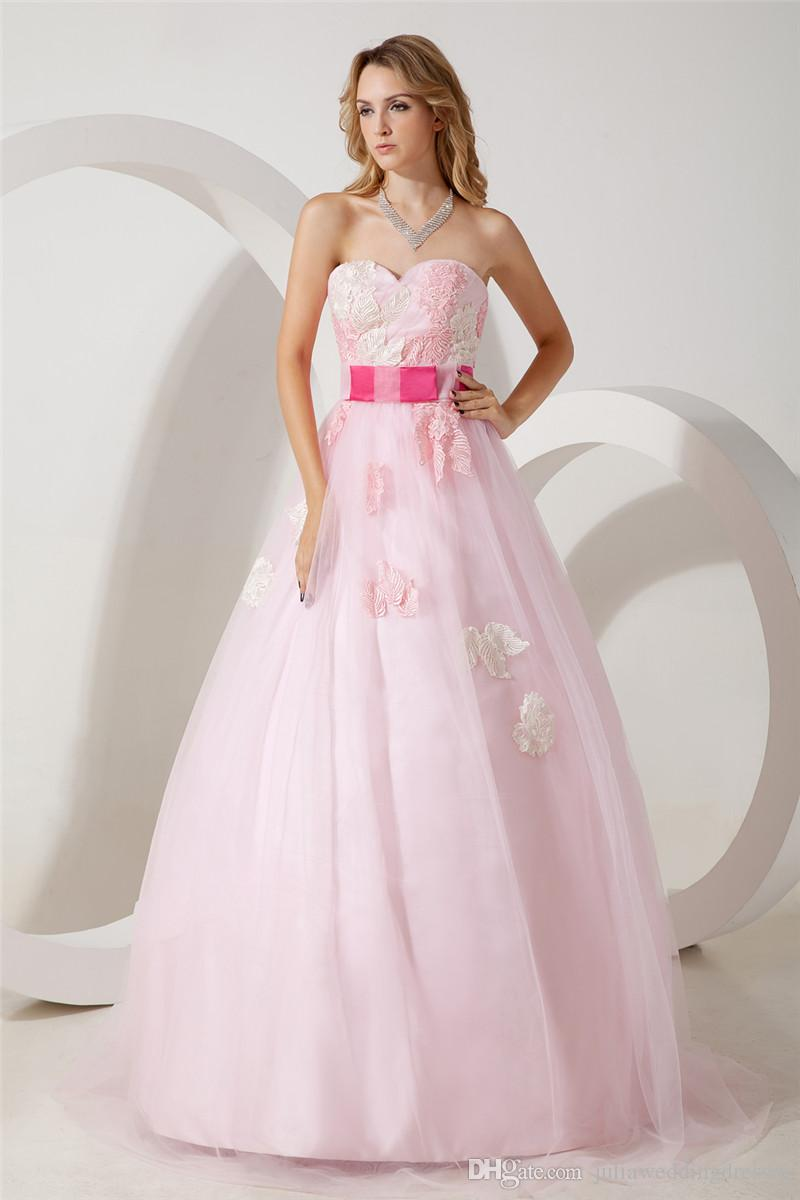 2017 Fashion Light Pink Appliques A-Line Quinceanera Dresses with Sweetheart Tulle Plus Size Sweet 16 Dress Vestido Debutante Gowns BQ67