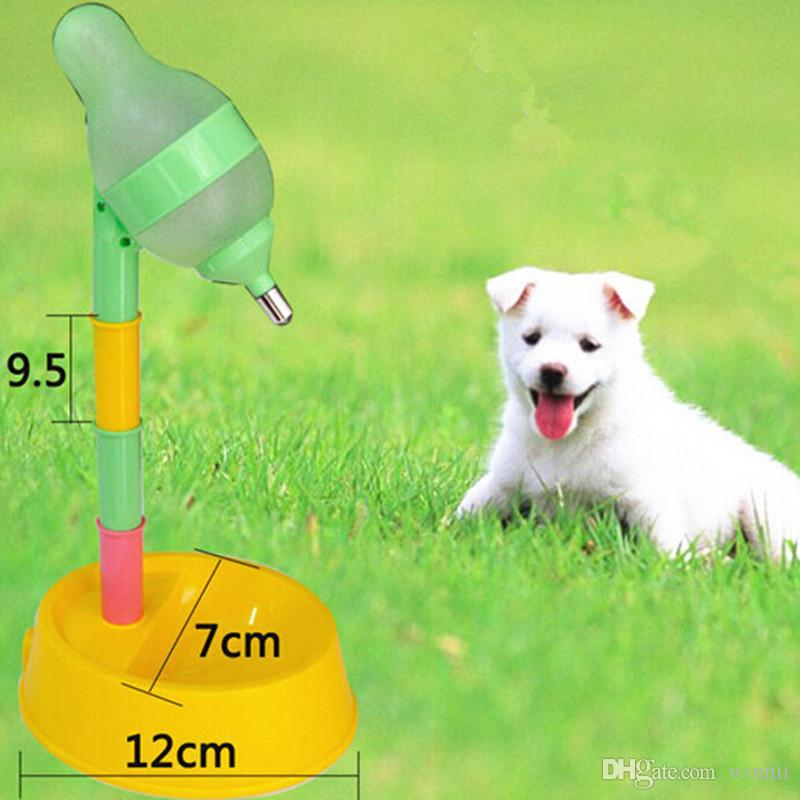 Automatic Pet Water Dispenser Food Stand Feeder Bowl Bottle Plastic Dog Cat Drinking Fountain Food Dish Pet Bowl Free shipping