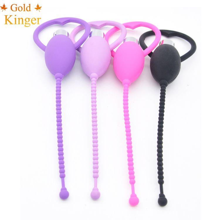 Male Electric Vibrating Long Urethral Silicone Stretching Chastity Catheter Masturbatory TB086