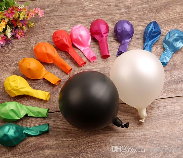 Free Shipping 100pcs /pack 2.8g Helium Thickening Pearl Latex Balloons Happy Birthday Wedding Party Decoration Balloon