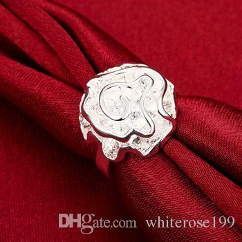 Hurtownie - detaliczna najniższa cena prezent świąteczny, darmowa wysyłka, nowy pierścień mody 925 srebrny YR005