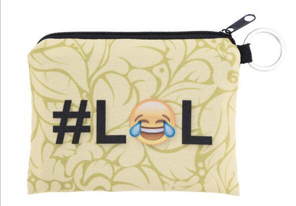 200pcs 29 stili bambini carino piccola espressione del fumetto emoji cerniera portafoglio portamonete borsa del cambiamento del sacchetto di mini bag goodfaithgirl shippng