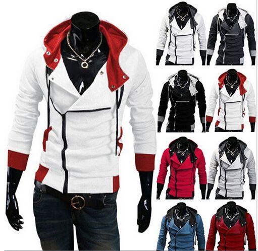 Free shipping 2017 Autumn & Winter Men Brand Fashion Casual Slim Cardigan Assassin Creed Hoodies Sweatshirt Outerwear Jackets Male Tracksuit