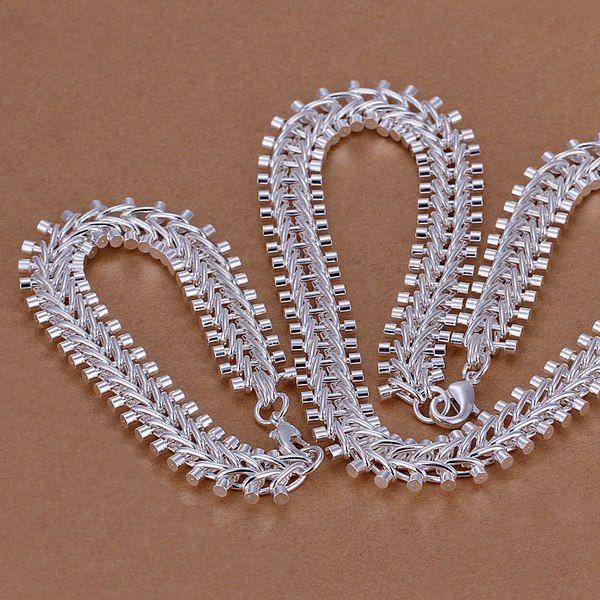 presente de Natal de prata esterlina 925 conjuntos de venda colar pulseira conjunto S042 maior barato nupcial partido jóias