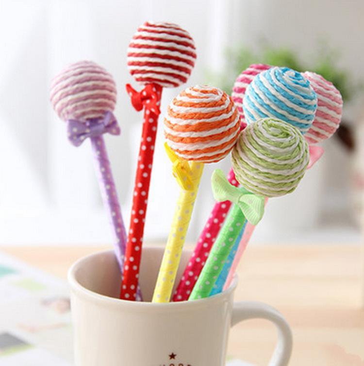 Papeterie créative coréenne d'enfants de cadeaux d'usine directe de sucrerie, sucette mignonne, stylo à bille, cadeaux d'étudiant