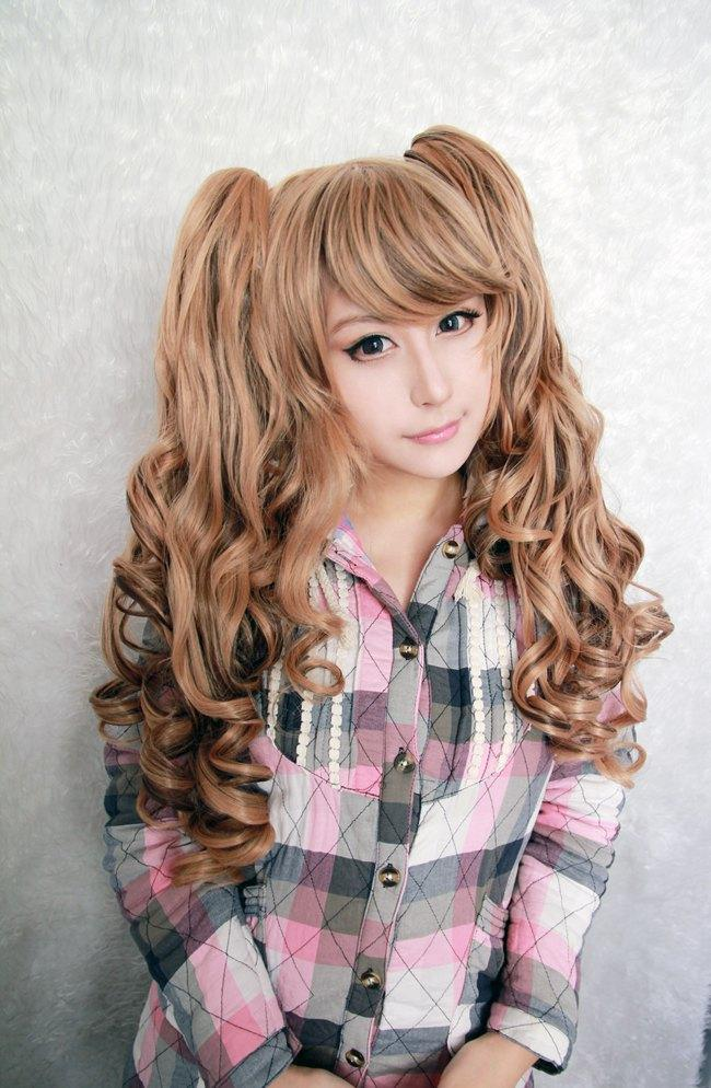 MCOSER Free Shipping High Quality Synthetic Classical Ombre 28 Inches Long Wave Braided Lolita Wig