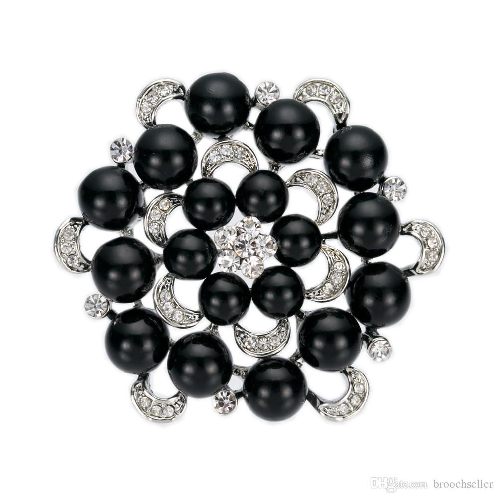 Multi-Pearl and Rhinestone Crystal Diamante Ronde Bloemen Bruiloft Broche Prom Party Wedding Pins