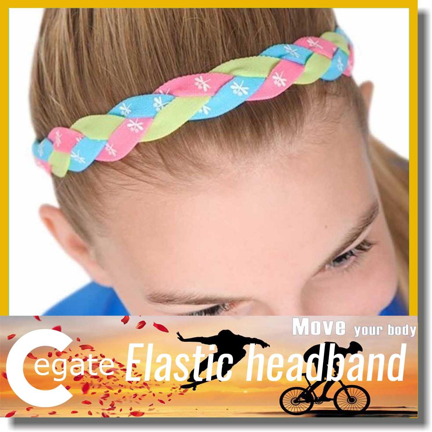 Hot sale sport Headbands Elastic Soft Stretch Adult Youth Sports Workouts baseball Fashion braided mini headband free DHL
