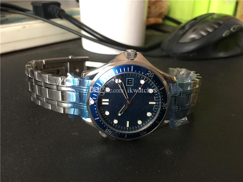 Top qualità della vigilanza di modo classico maschile Guarda Menchanical Automatic, orologio faccia blu Mens acciaio orologi da polso uomo 016