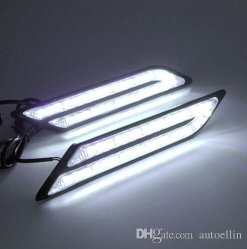 Car Styling Waterproof 33 LEDs DRL Super Bright DRL Car daytime LED light Universal Car Daytime Running Lights