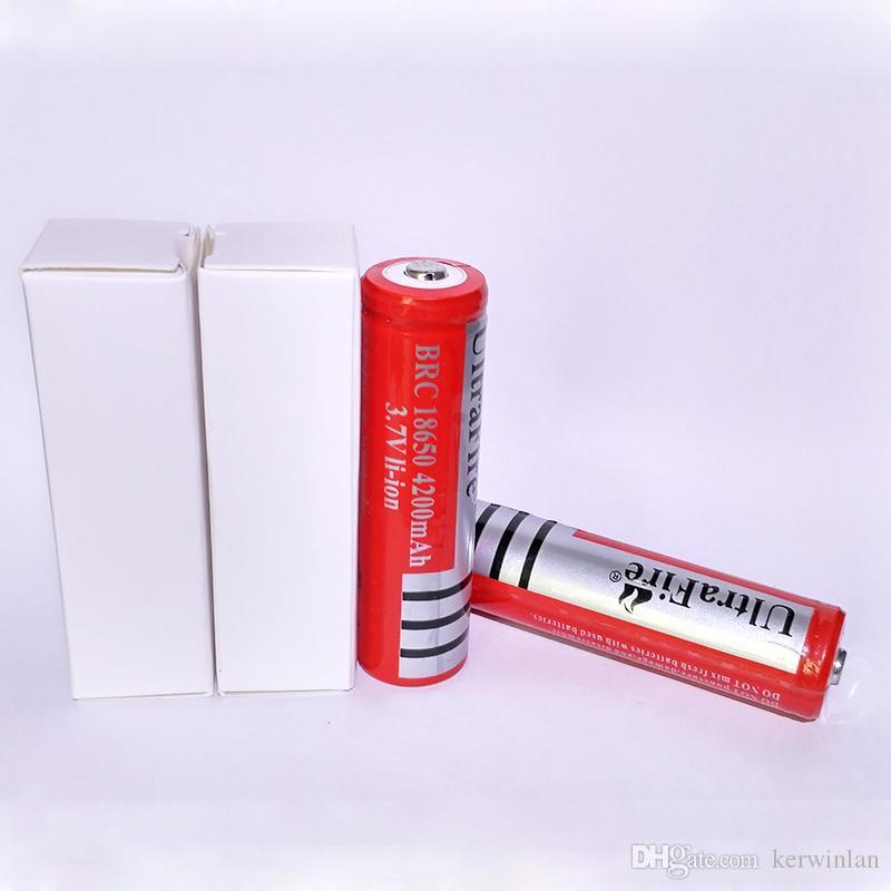 Ny ultrafire 18650 3.7V 4200mAh Uppladdningsbart Litium Li-ion Batteri för Torch LED-kamera laser ficklampa