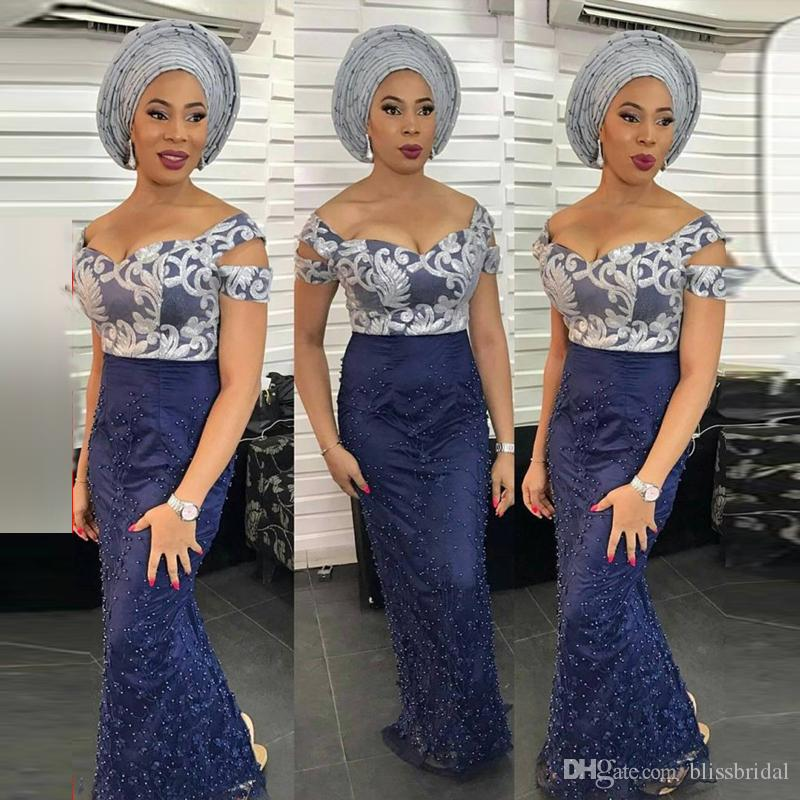 Off the Shoulder Arabia Style Mermaid Evening Dress Painting Top Peal Skirt Dubai Prom Gown Floor Length Formal Wear Special Occasion Dresse