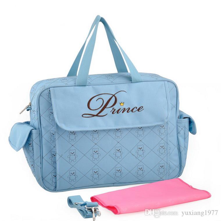 Wholesale Freies Verschiffen-klassische wasserdichte Baby-Windel-Tasche Stilvolle Mama-Baby-Tasche Günstige stilvolle Windel-Tasche