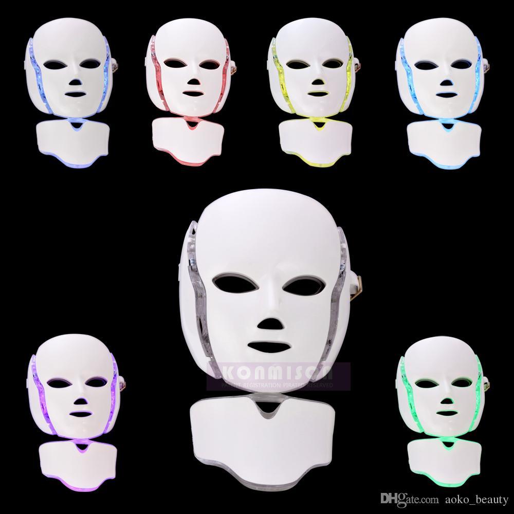2中の1つのLEDフェイシャルマスク7光子の色が付いている皮革の色が付いているPDTマシン