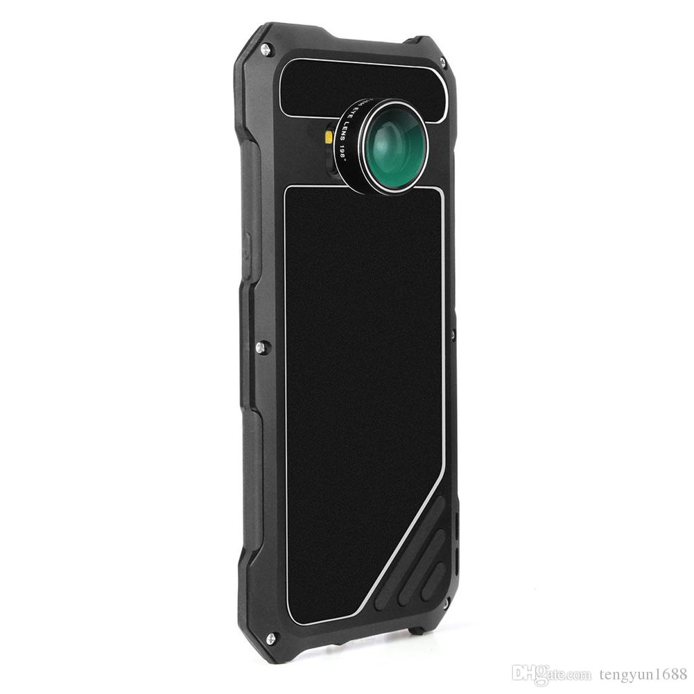 For Samsung S8 Phone Case Screen Protector Shockproof Waterproof Dust proof High Impact Aluminum Alloy Case With 3 Separated Camera Lens Kit