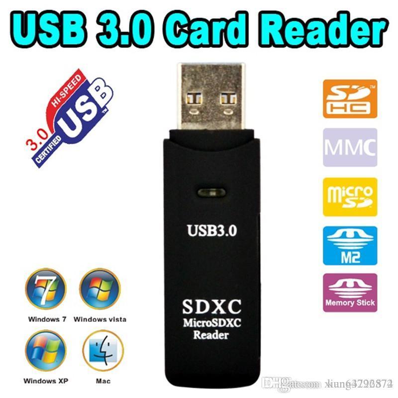Antiseismic USB 3.0 Micro SDXC SD TF Memory Card Reader Adapter SD/MicroSD/TF Transflash Card USB3.0 High-Speed
