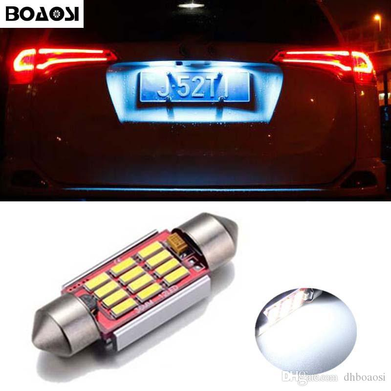 BOAOSI Canbus aucune erreur 36MM C5W LED plaque d'immatriculation allume des ampoules pour Mercedes Benz W208 W209 W203 W169 W210 W211 W212 AMG CLK