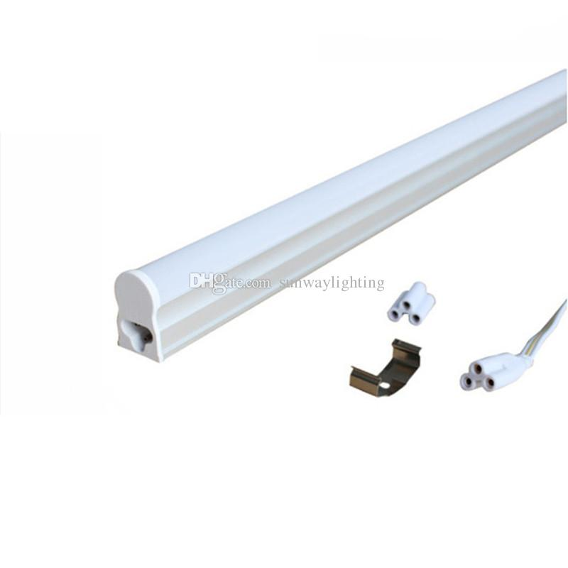 Integrated T5 LED tube lights 30CM 60CM 90CM 120CM 5W 9W 13W 18W SMD2835 Led fluorescent light lamps warm nature cool white 85-265V