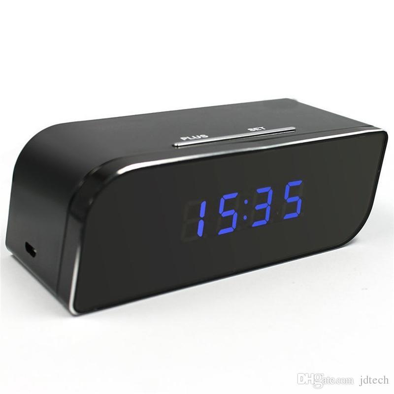 1080P WiFi Camera Alarm Clock Network Camera HD Nanny Cam Motion Activated Alarm Wireless Security Camera Baby Monitor Retail Box 10pcs