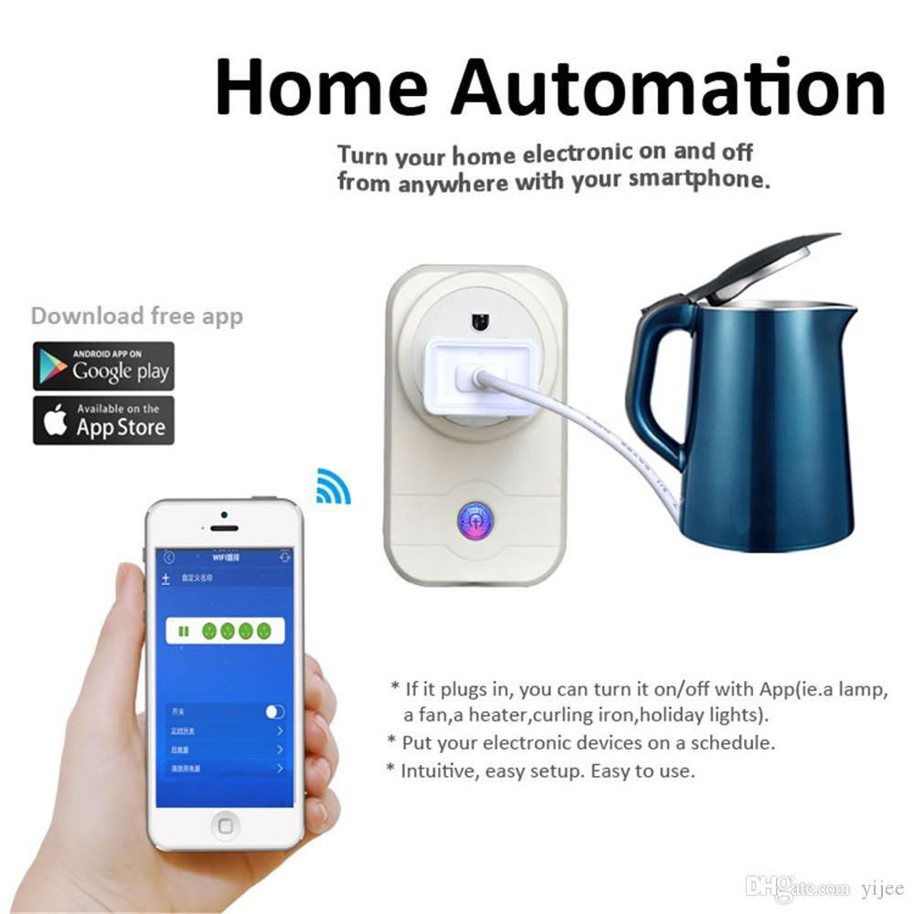 2.4GHz Wifi Switch Smart Plug Home Automation Remote Control Power ...