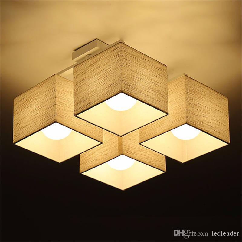 L23-Fabric art Cloth LED Ceiling Light Nordic LED Pendant Lamps Modern Living Room Lamp Bedroom Kitchen Lighting