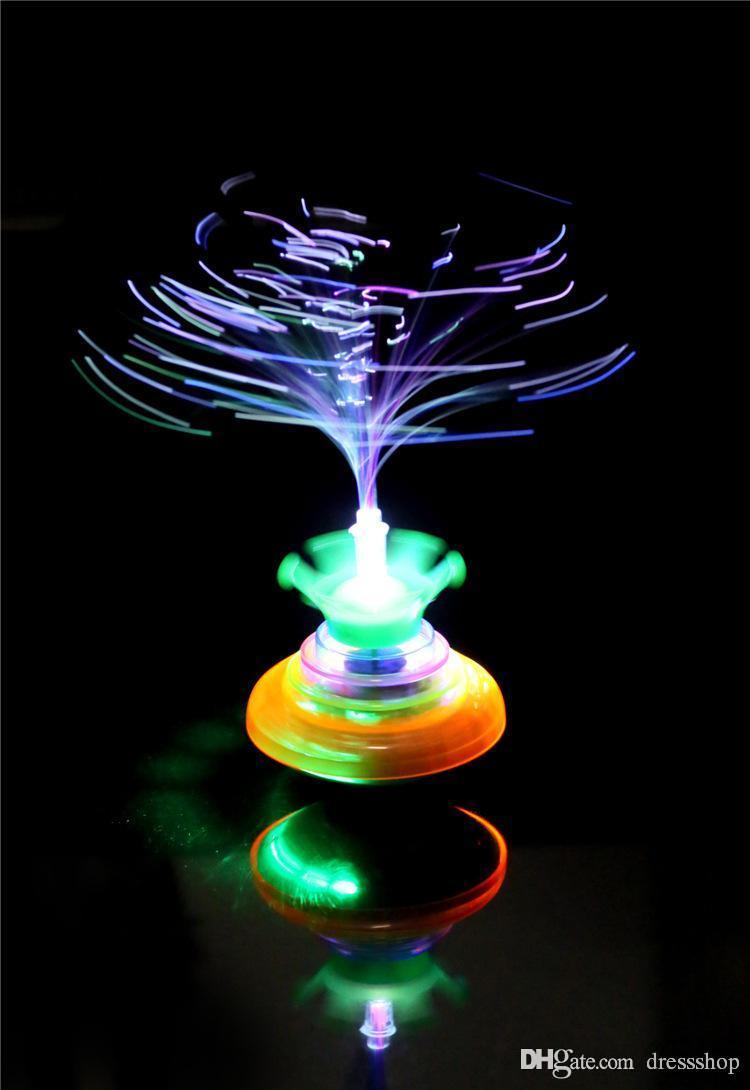 Speciale Aanbieding Gratis Verzending Nieuwe Kleurrijke Gyro Electric Music Flash Light Emitting Children's Toys Magical Fog Gyro