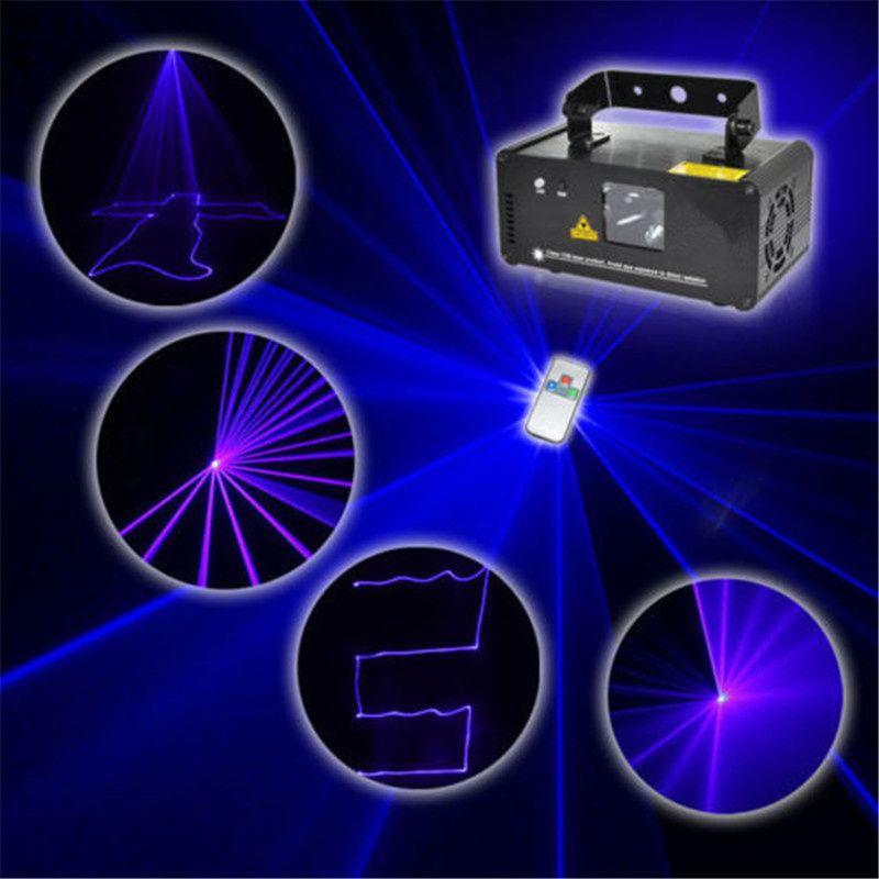 Mini Blue DMX 512 Remote Sound Projector Stage Equipment Light DJ KTV Show Holiday Laser Lighting DM-B150