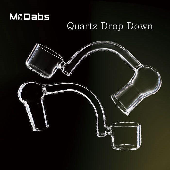 Quarz Dropdown Quarz Adapter Banger Nail Clear Joint 10mm 14mm 18mm Female Female für Bohrinseln bei Herr Dabs