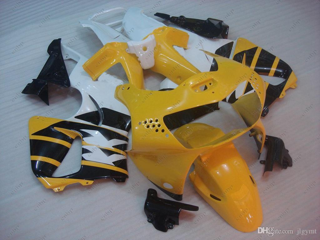 Plastic Fairings CBR919RR 1999 Fairing Kits CBR 919RR 1998 Yellow Black Full Body Kits for Honda Cbr919RR 99 1998 - 1999