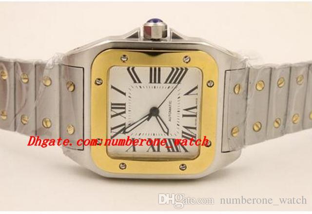 Luxury Watches Orologio da polso Nuovo movimento automatico Two Tone 100 XL Stainless Steel Meccanico Fashion Sapphire Quadrante grande di qualità