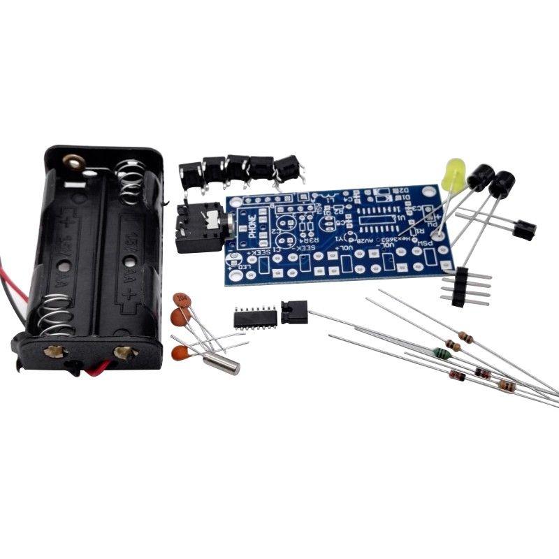 DIY-5-Keys-Stereo-Wireless-FM-Radio-Receiver-Kit-Electronic-Kit-PCB-76-108-MHz