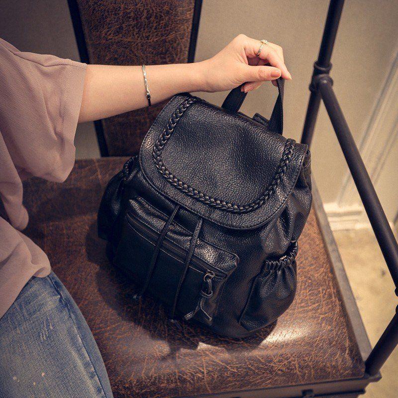 Doppelte Schultertasche weibliche südkoreanische Ausgabe PU-Mode Schule Feng Pack Schule Feng Tasche der neue Stil des neuen Trends 2017 neue Flut