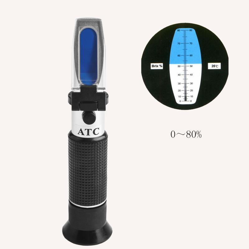 5pcs/lot 2017 new hot sell Wholesalers cheaper 0-80% Brix refractometer ATC concentration arrive