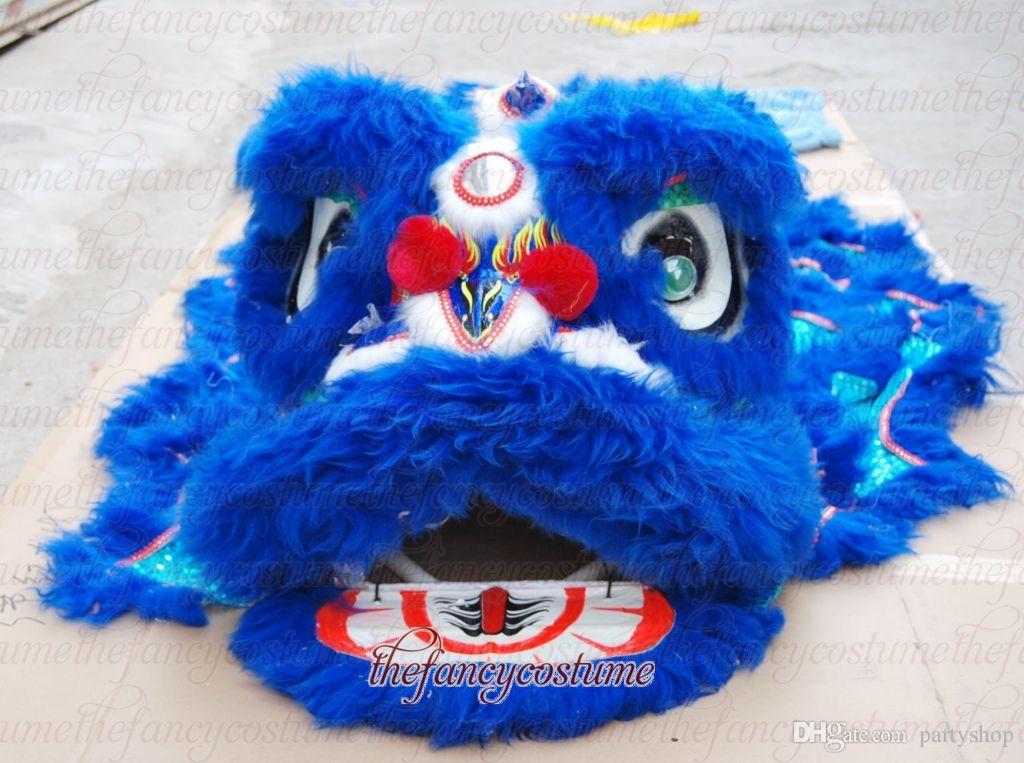 Partie Southern Lion Dance Age 9-13 Jours enfants Mascotte Costume School Jouer à l'extérieur Ouverture Ouvrir Anniversaires Événements Costume Chinese Folk