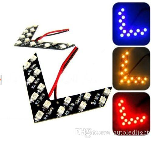 white red blue green Yellow led Arrow Panel 14/27/33SMD LED Car Side Mirror Turn Signal Light