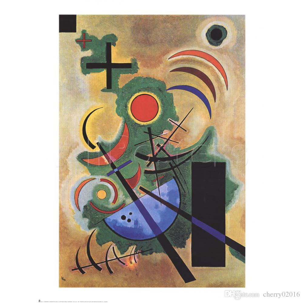 Abstract modern art Standhaftes Grun Original-Wassily Kandinsky oil paintings Canvas hand-painted