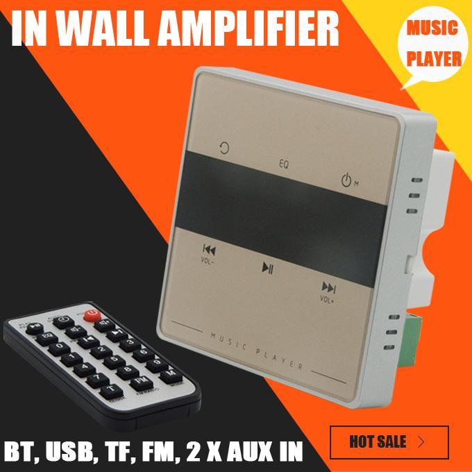 Freeshipping نظام الصوت المنزلي ، نظام الموسيقى ، نظام مكبر الصوت في السقف ، مضخم صوت استريو رقمي بتقنية Bluetooth ، في مكبر صوت الجدار مع مفتاح اللمس