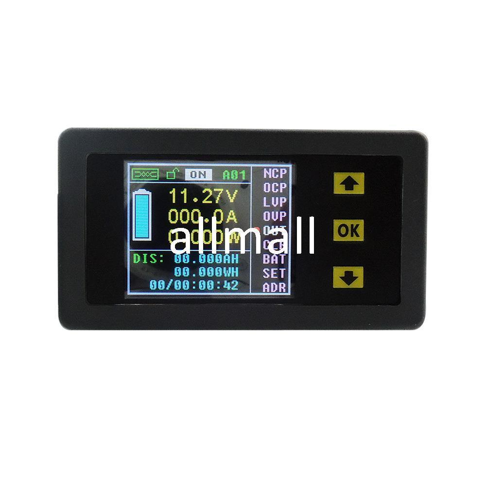 Freeshipping DC 100V 200A 무선 디지털 LCD 디스플레이 디지털 전류 전압계 전류계 전력 에너지 멀티 미터 패널 테스터 미터 모니터