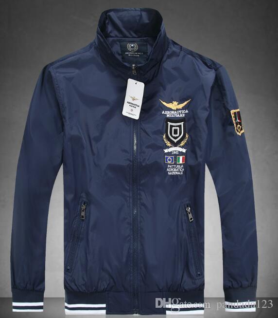 incomparable paquete elegante y resistente venta de bajo precio Simple AERONAUTICA MILITARE JACKET MEN COTTON Air Force One JACKETS CASUAL  FASHION MEN'S Coats REGULAR AUTUMN WINTER SOLID Jackets For Man Coat For ...