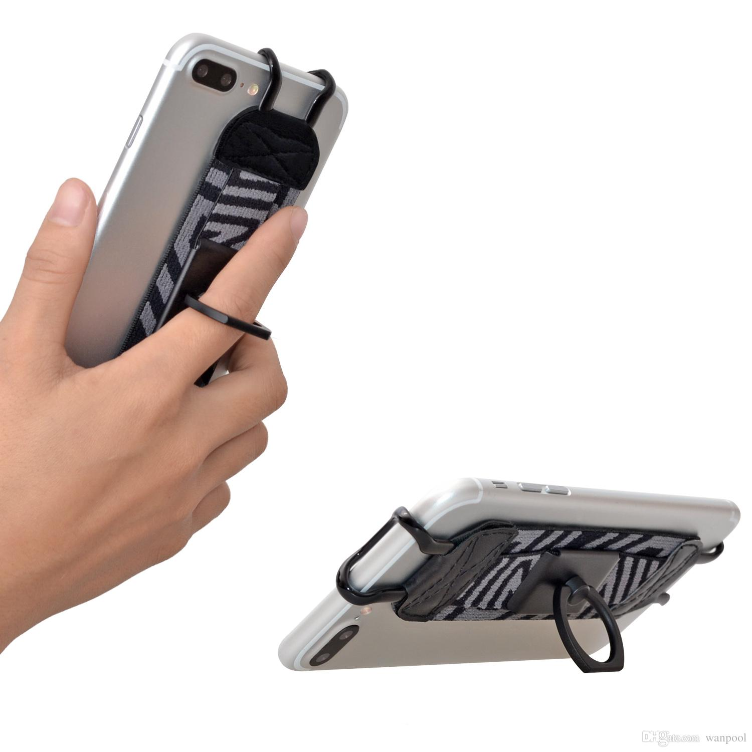 TFY Security Hand Strap avec 360 ° Rotation Metal Ring Support Finger-Grip pour iPhone 6 Plus / iPhone 6s Plus / iPhone 7 Plus
