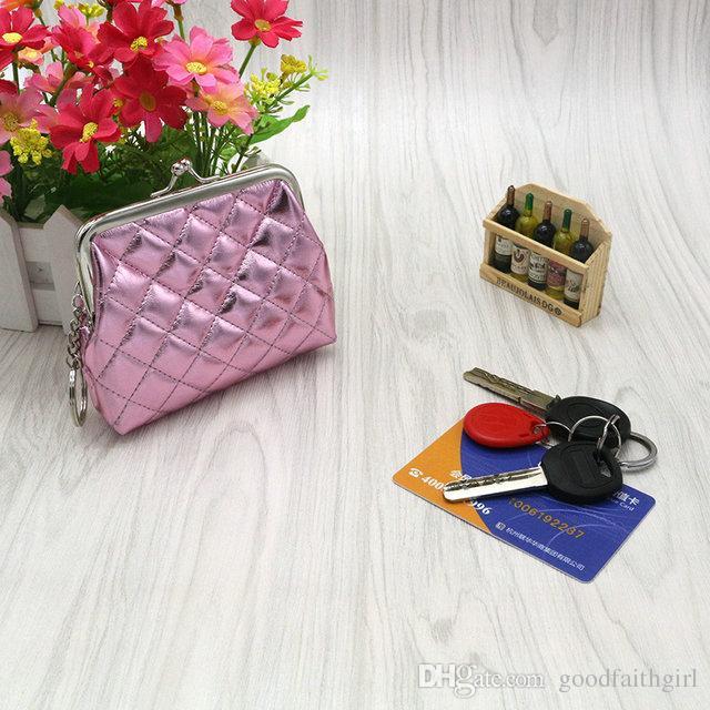 5pcs Fashion Hot bella donna ragazza PU Hasp portamonete Mini portafoglio portatile cambiare sacchetto di denaro Mini carta di frizione portachiavi regalo di natale
