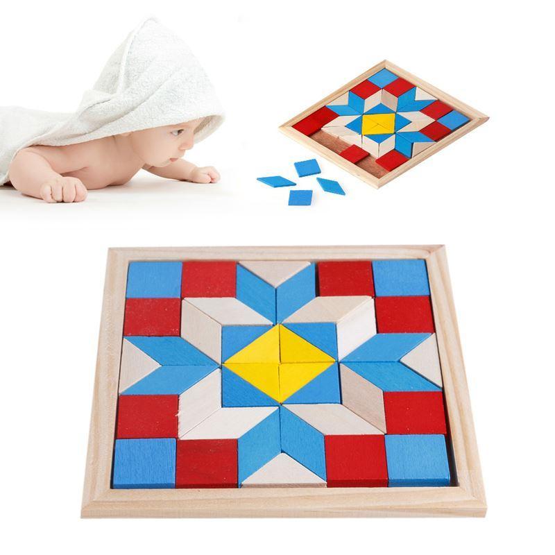 هندسة Tangrams المنطق تدريب الدماغ ألعاب الذكاء لغز خشبي للأطفال اللعب الهدايا