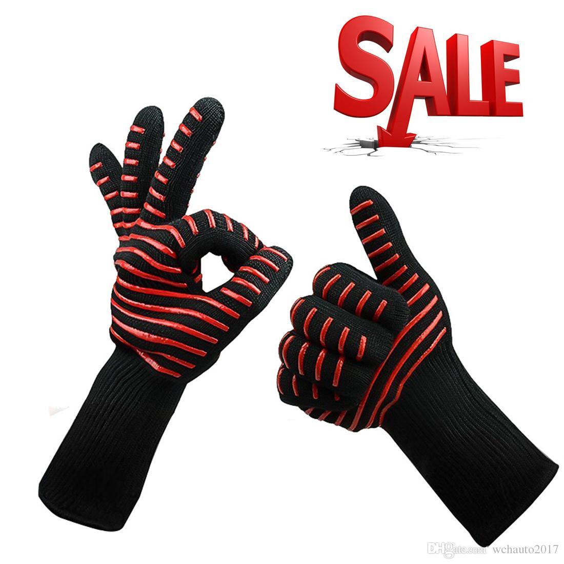 Küche Silikon Handschuhe BBQ Grillen Kochhandschuhe Hitzebeständige Handschuhe