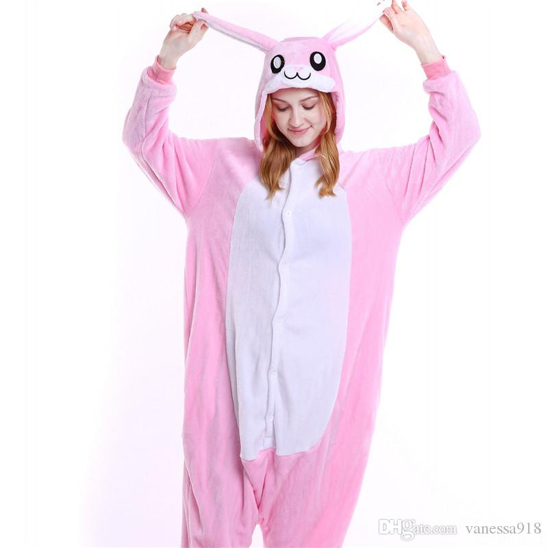 Women Pajama Sets Blue Pink Rabbit Onesies Animal Cartoon Cosplay Theme Costume Unisex Onesie for Men Sleepwear MX-004