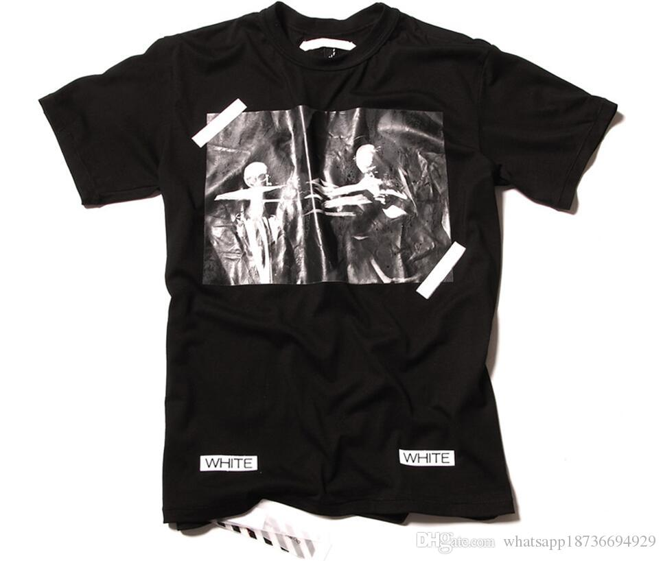 Wholesale New Men Brand Summer Pyrex 14 Ss Off White Ow T Shirts ...