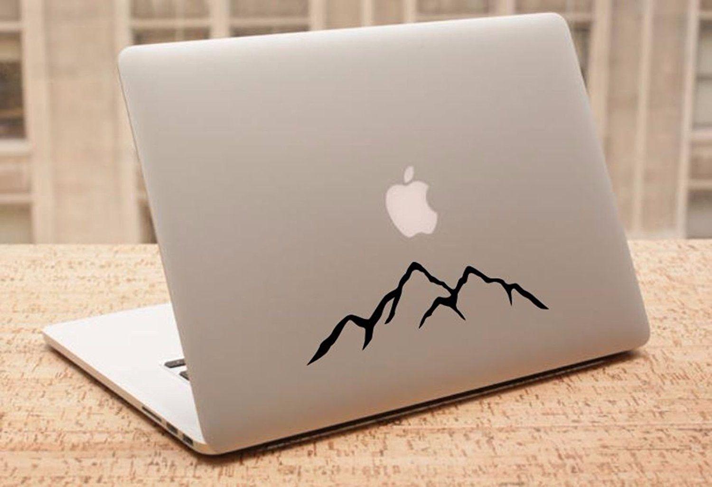 Decal mountains silhouette laptop cars trucks vans walls laptop decal stickers car window funny truck laptop macbook vinyl 6